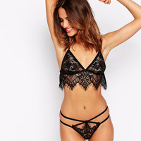 ASOS Witchy Lace Caged Longline Bra