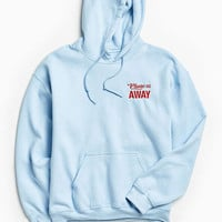 Go Away Embroidered Hoodie Sweatshirt | Urban Outfitters