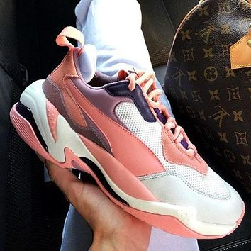 Puma Puma Thunder Desert Off-White Platform Bottoms Pink White