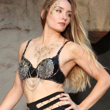 Triangle Chainmail Steampunk Bra Top