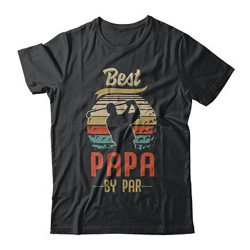 Vintage Best Papa By Par Fathers Day Funny Golf Gift