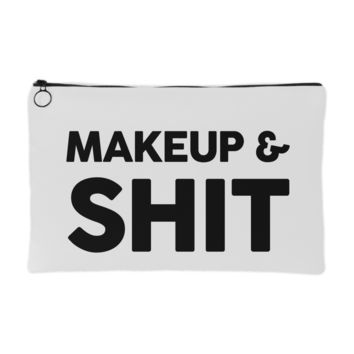 Makeup & Shit Makeup Pouch | The Inked Elephant