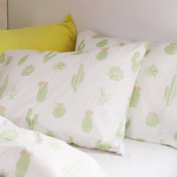 Cactus Icon Pillowcase Set | Urban Outfitters