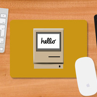 Retro iMac Hello Mousepad