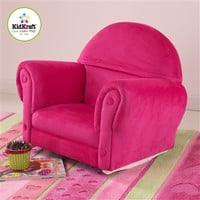 Upholstered Rocker w/Slipcover Bubblegum