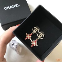 HCXX 19Sep 887 Fashion Classic Crystal Pendant Earrings