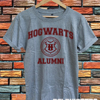 hogwarts alumni shirt harry potter shirts tshirt t-shirt sport grey printed unisex size (DL-75)