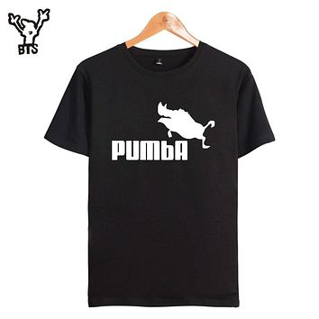 BTSt shirt pumba pig men/women Skateboard 4xl Brand Hip Hop fashion T-shirt men rock Tee Shirt hip hop clothes plus size xxxxl