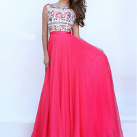 Sherri Hill 50457 Appliquéd Bodice Formal Prom Gown