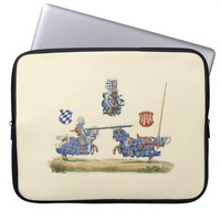 Jousting Knights - Medieval Theme Computer Sleeve