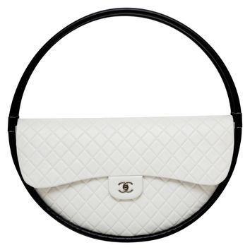 Frame It Collector's CHANEL Hula Hoop Runway X-LARGE Bag Limited S/S 2013 NEW