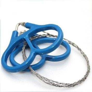 ONETOW Saw Wire EDC Emergency Survival Gear Outdoor Plastic Steel Ring Scroll Travel Camping Hiking Hunting Climbing Survival Tool Kit