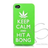 Keep Calm Series iPhone 4 and 4S Cases - Hit A Bong