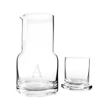 Personalized 28 oz. Bedside Water Carafe & Glass Set