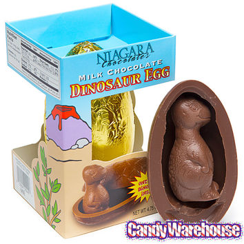 Giant Milk Chocolate Dinosaur Egg with Baby Dino Gift Box | CandyWarehouse.com