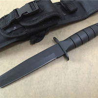 Tanto Hunting Fixed Knives,420J2 Blade Rubber Handle Tactical Survival Knife,Camping Knife.