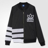 adidas Berlin Logo 3-Stripes Track Jacket - Black | adidas US