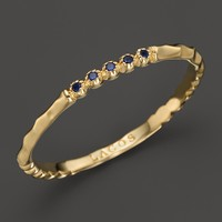 Lagos 18K Gold and Sapphire Ring