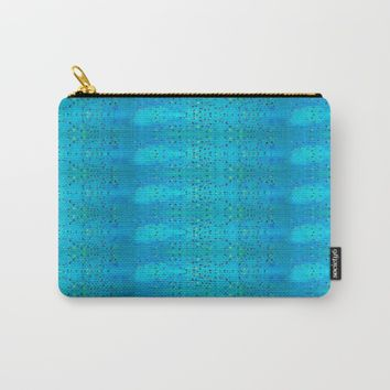 Teal Beanwood. Carry-All Pouch by Ellebee