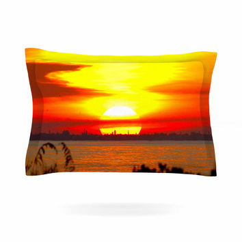 "Philip Brown ""Sunrise On Sanibel"" Coral Gold Pillow Sham"