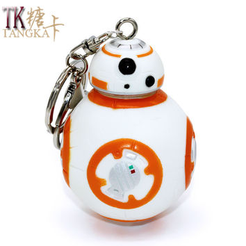 Fashion Personality Star Wars BB8 metal car keychain key chain key ring keyring key holder model gifts