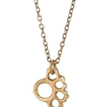 Brute Tamer Brass Knuckle Necklace