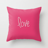 Love Design Throw Pillow by secretgardenphotography [Nicola]