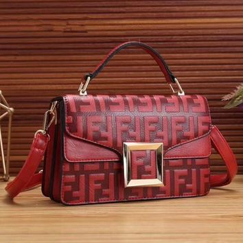 FENDI Fashion Women Shopping Handbag Crossbody Satchel Shoulder Bag-1