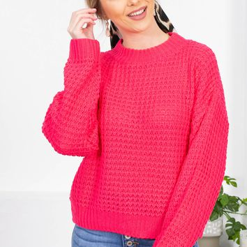 Rose Mock Knit Sweater