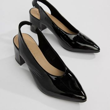 Vero Moda patent sling back shoes at asos.com