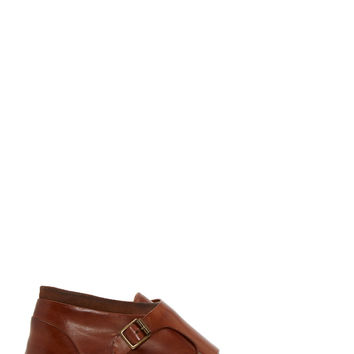 Paul Smith Tan Leather Monk Strap Shoes
