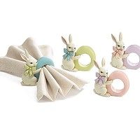 Easter Bunny Rabbit Napkin Rings - Set of 4