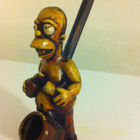 Tobacco Hand Made Pipe, Homer Simpson Design