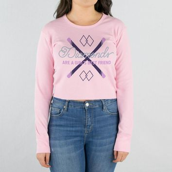 Diamonds are a Girl's Best friend Cropped Thermal