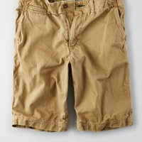 AEO Active Flex Slim Flat Front Short , Scout Khaki | American Eagle Outfitters