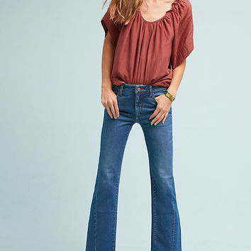 Pilcro High-Rise Cropped Flare Jeans
