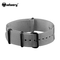 Watch Straps Grey Canvas Strong Watchbands Smooth Bands For Wrist Watches Men Bracelet  Water Resistant