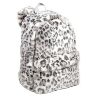 Faux Fur Grey Cheetah Backpack