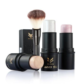 Huamianli Stick Iluminador Cream+High Light Makeup Set Full Professional Bronzing Brush Kits For Bronzer Face Cosmetics Mask