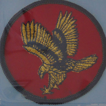 Soaring Eagle 1970s Vintage 3 inch Round Iron Patch Sew On Applique  NWT Made in USA