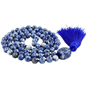 SUNYIK Semi Precious Stone Wrap BraceletBeaded Necklace Tibetan Buddhist Prayer Beads
