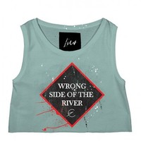 Wrongside' Super Crop Tank by Youreyeslie.com Online store> Shop the collection