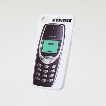Never Forget Nokia 3310 . iPhone 4 case . iPhone 5 case