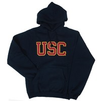 USC Black Tackle Twill Pullover Hood - USC Bookstores