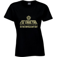 I'll Take The Winchesters In The Impala Any Day T Shirt, Supernatural Shirt, Birthday Gift