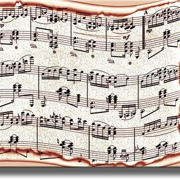 Music Notes Picture on Acrylic , Wall Art Decor Ready to Hang!.