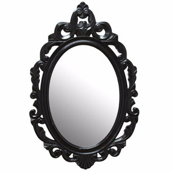 SHD-SHD0059Black Baroque Mirror