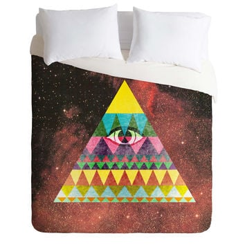 Nick Nelson Pyramid In Space Duvet Cover