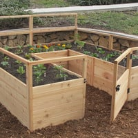 OLT Raised Cedar Garden Bed 8'x8' or 8'x12' With Deer Fence Options