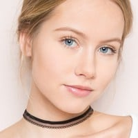 Black Lace Choker - Jewelry - Accessories